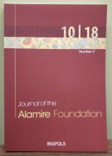 Journal of the Alamire Foundation (10/2 cover)